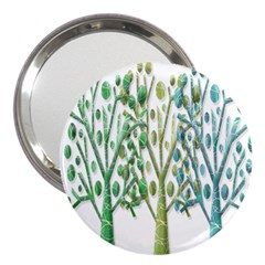 Magical green trees 3  Handbag Mirrors