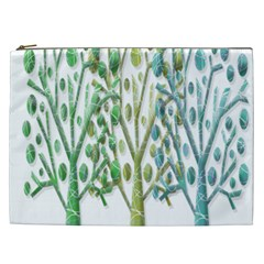 Magical green trees Cosmetic Bag (XXL)