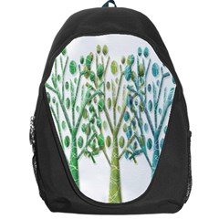 Magical green trees Backpack Bag