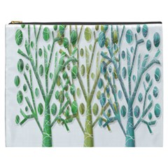 Magical green trees Cosmetic Bag (XXXL)