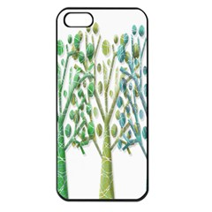 Magical green trees Apple iPhone 5 Seamless Case (Black)