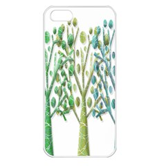 Magical green trees Apple iPhone 5 Seamless Case (White)