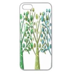 Magical green trees Apple Seamless iPhone 5 Case (Clear)