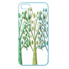 Magical green trees Apple Seamless iPhone 5 Case (Color)