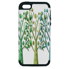 Magical green trees Apple iPhone 5 Hardshell Case (PC+Silicone)
