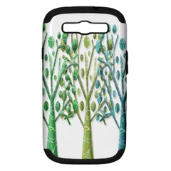 Magical green trees Samsung Galaxy S III Hardshell Case (PC+Silicone)