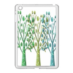 Magical green trees Apple iPad Mini Case (White)
