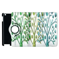 Magical green trees Apple iPad 2 Flip 360 Case