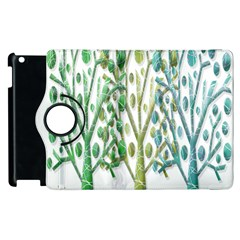 Magical green trees Apple iPad 3/4 Flip 360 Case