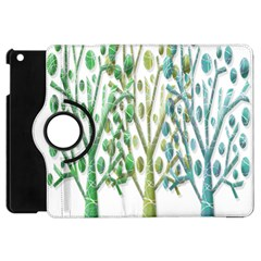 Magical green trees Apple iPad Mini Flip 360 Case
