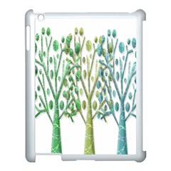 Magical green trees Apple iPad 3/4 Case (White)