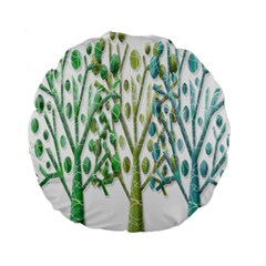 Magical green trees Standard 15  Premium Round Cushions