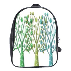 Magical green trees School Bags (XL)