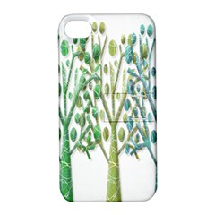 Magical green trees Apple iPhone 4/4S Hardshell Case with Stand