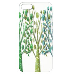 Magical green trees Apple iPhone 5 Hardshell Case with Stand