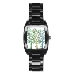 Magical green trees Stainless Steel Barrel Watch