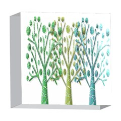 Magical green trees 5  x 5  Acrylic Photo Blocks