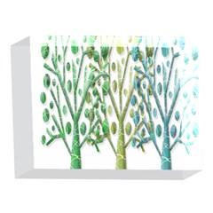 Magical green trees 5 x 7  Acrylic Photo Blocks