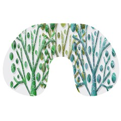 Magical green trees Travel Neck Pillows