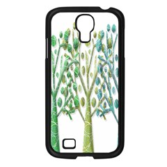 Magical green trees Samsung Galaxy S4 I9500/ I9505 Case (Black)