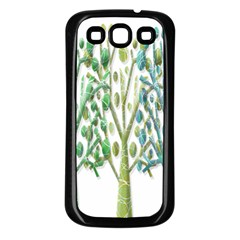 Magical green trees Samsung Galaxy S3 Back Case (Black)