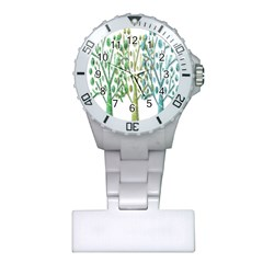 Magical green trees Plastic Nurses Watch