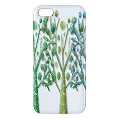 Magical green trees iPhone 5S/ SE Premium Hardshell Case