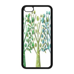 Magical green trees Apple iPhone 5C Seamless Case (Black)