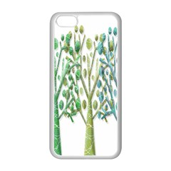 Magical green trees Apple iPhone 5C Seamless Case (White)