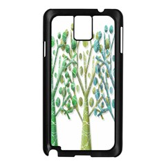 Magical green trees Samsung Galaxy Note 3 N9005 Case (Black)