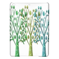 Magical green trees iPad Air Hardshell Cases