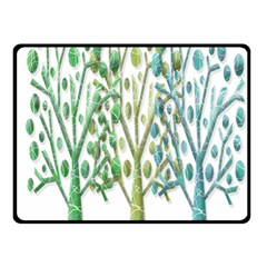 Magical green trees Double Sided Fleece Blanket (Small)