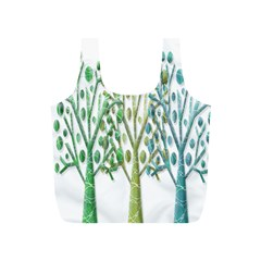 Magical green trees Full Print Recycle Bags (S)