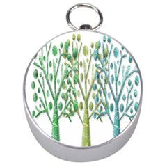 Magical green trees Silver Compasses