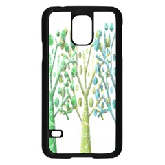 Magical green trees Samsung Galaxy S5 Case (Black)