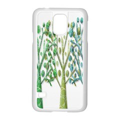 Magical green trees Samsung Galaxy S5 Case (White)