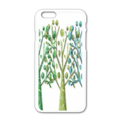 Magical green trees Apple iPhone 6/6S White Enamel Case