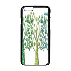 Magical green trees Apple iPhone 6/6S Black Enamel Case
