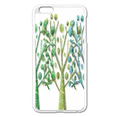 Magical green trees Apple iPhone 6 Plus/6S Plus Enamel White Case