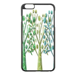 Magical green trees Apple iPhone 6 Plus/6S Plus Black Enamel Case