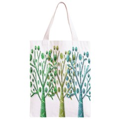 Magical green trees Classic Light Tote Bag