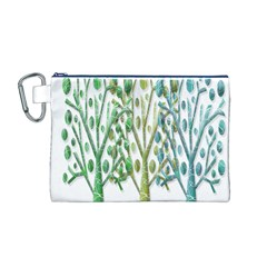 Magical green trees Canvas Cosmetic Bag (M)