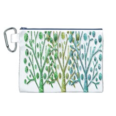 Magical green trees Canvas Cosmetic Bag (L)