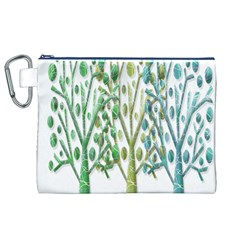 Magical green trees Canvas Cosmetic Bag (XL)