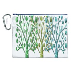 Magical green trees Canvas Cosmetic Bag (XXL)