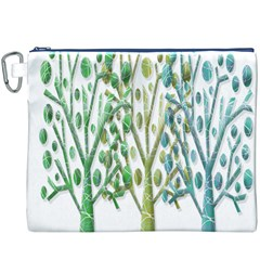 Magical green trees Canvas Cosmetic Bag (XXXL)