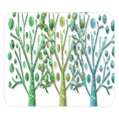 Magical green trees Double Sided Flano Blanket (Small)