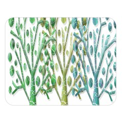 Magical green trees Double Sided Flano Blanket (Large)