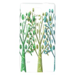 Magical green trees Galaxy Note 4 Back Case
