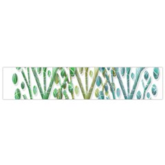 Magical green trees Flano Scarf (Small)